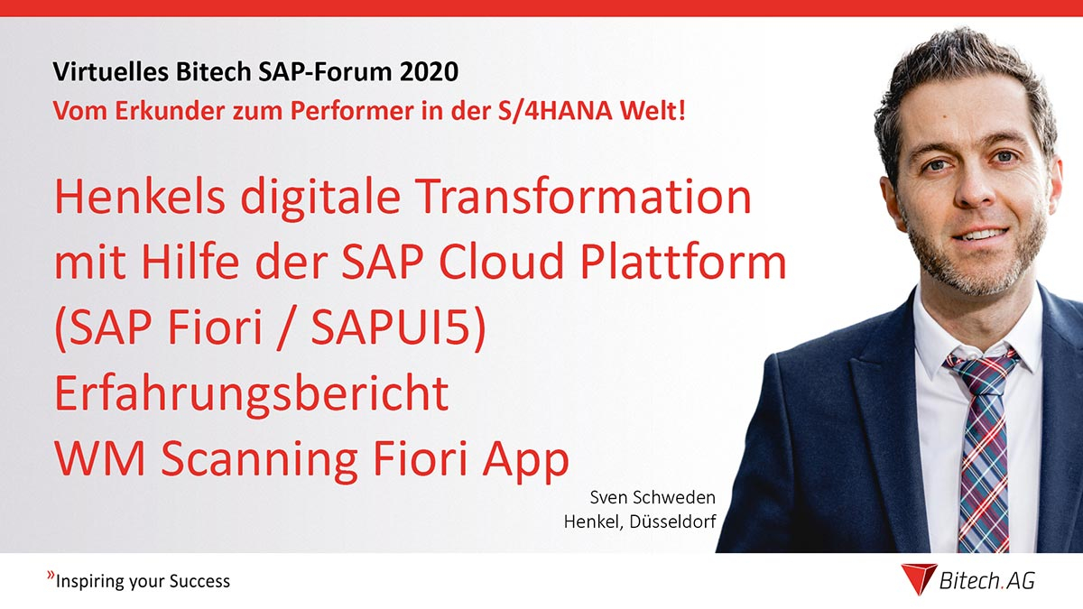 Webinar » Henkels digitale Transformation mit Hilfe der SAP Cloud Platform (SAPUI5/Fiori)