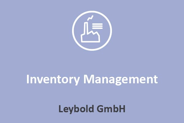 Leybold - Inventory Management